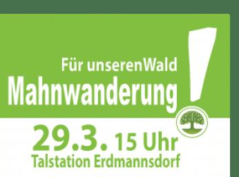 Plakat Offener Wald