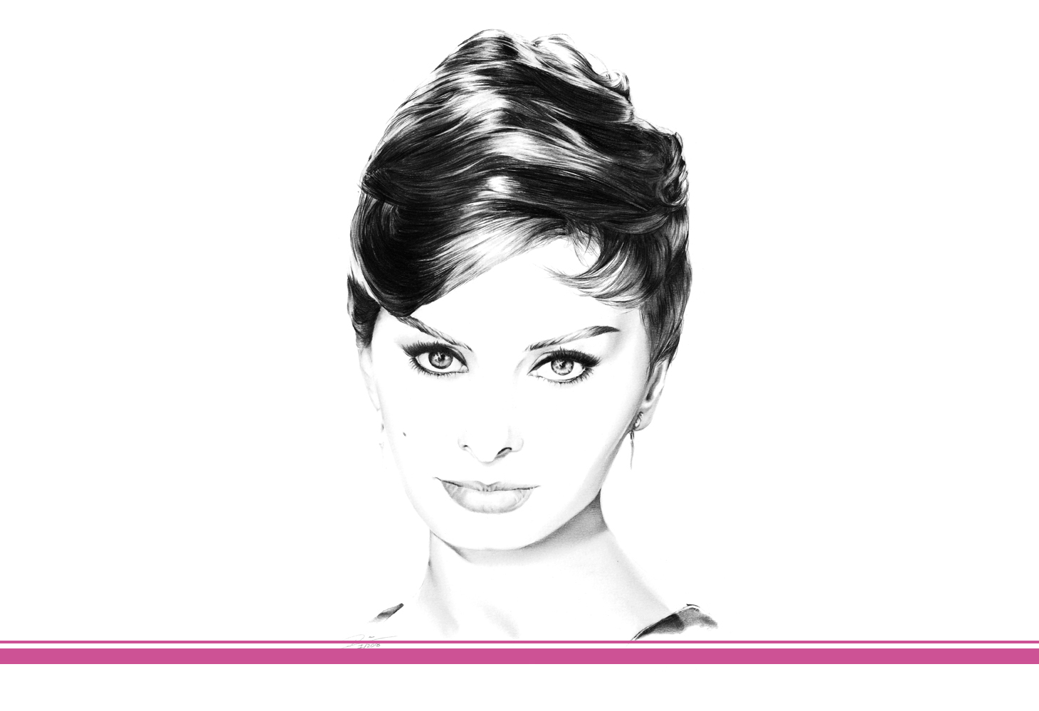 Minimalzeichnung Sophia Loren