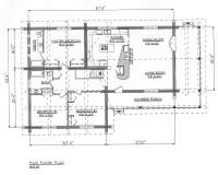 Log Home Plans - Ranchers - DDS1942W