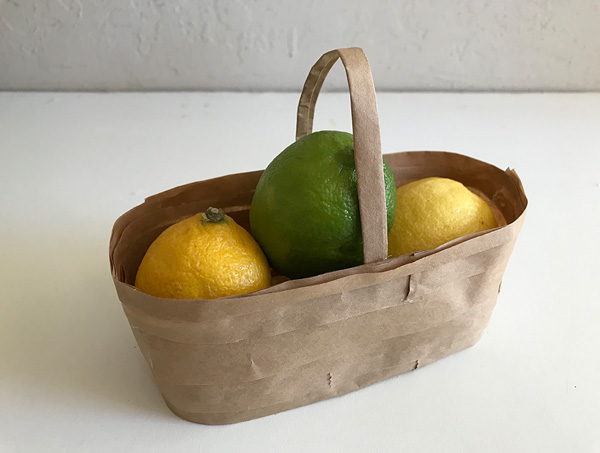 Paper Bag Fruit Basket