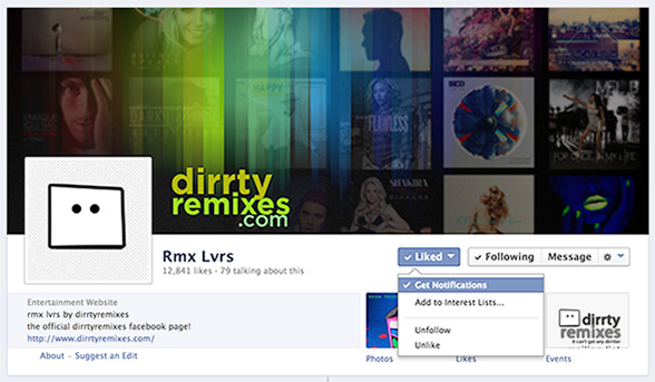 how to get like notifications on facebook