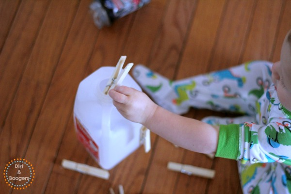 Clothes Pin Drop - Activities for Young Toddlers