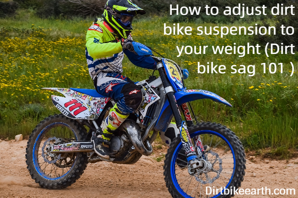 What is rider sag on a dirt bike - An Article in the dirt bike sag 101 series