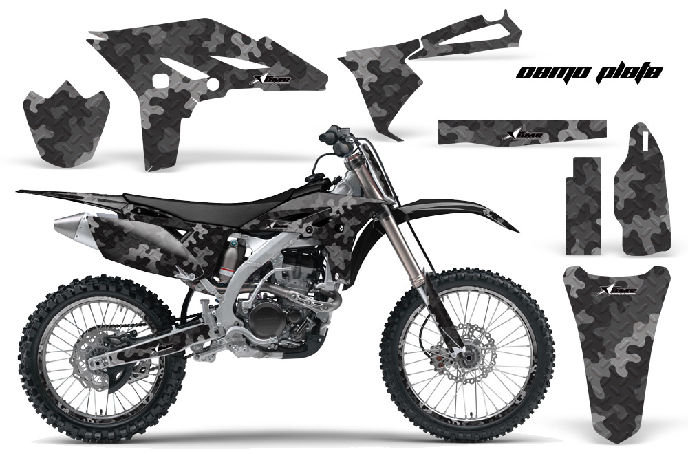Yamaha YZ250F 2010 Graphics Kit CAMO PALTE-BLACK-NP