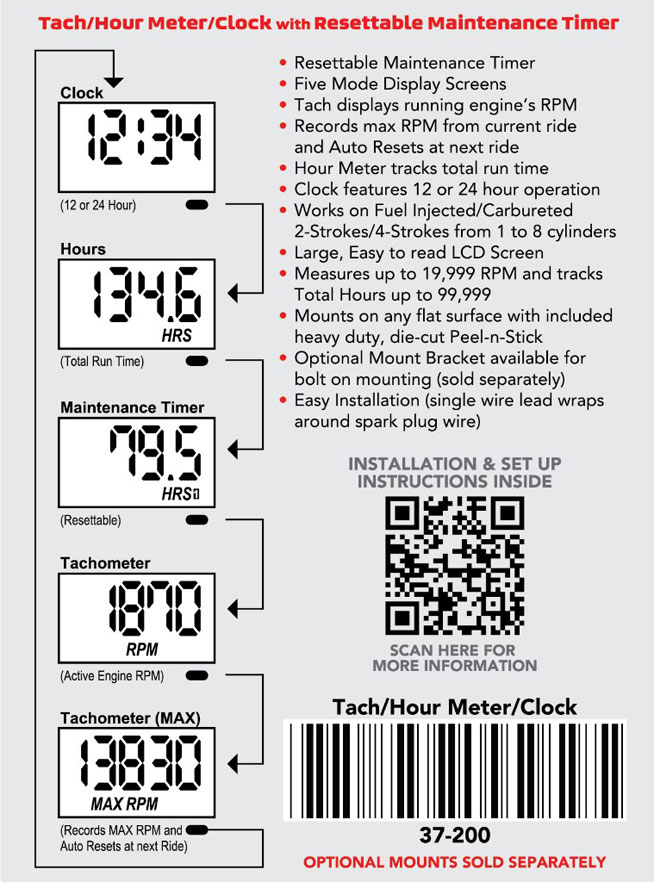 New Product: Works Connection Tach/Hour Meter/Clock