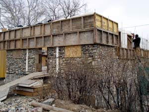 Building our slipform stone house on Main Street an ongoing journal of the building adventure