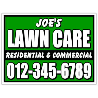 yard work signs - lawn care sign