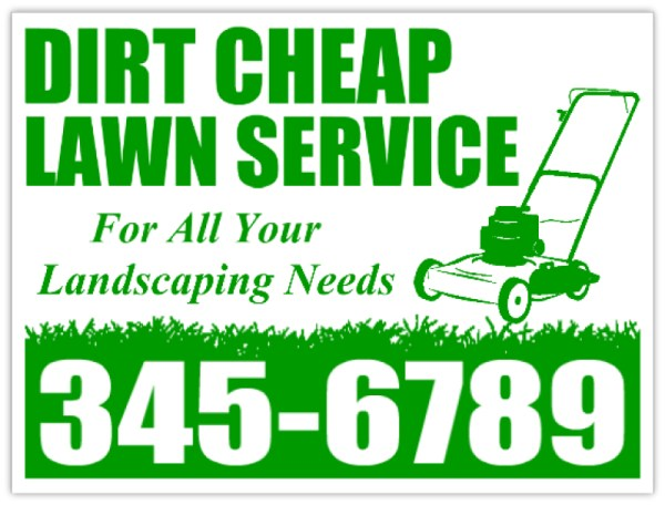 lawn service signs - landscaping