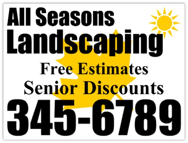 landscaping signs - lawn care sign