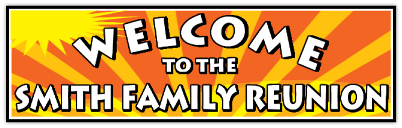 Family Reunion Banners And Signs
