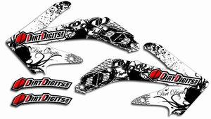 Dirt Digits Honda Signature White Radiator Shroud Graphics