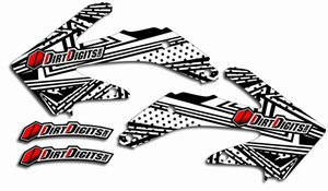 Dirt Digits Honda Le Disco White Radiator Shroud Graphics