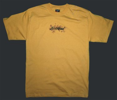 Splat Stonewashed Yellow Tee Front