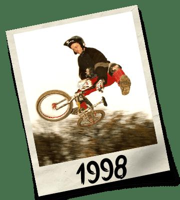 Dirtworks BMX's Phil Hudu Charnley Polaroid - 1998