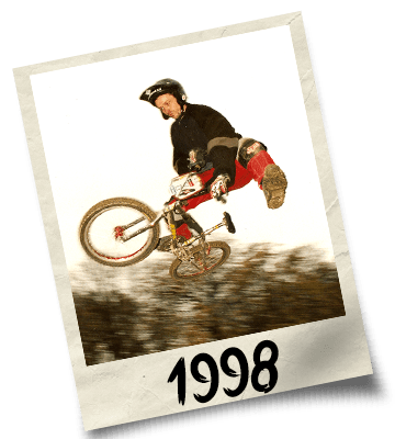 Dirtworks BMX's Phil Hudu Charnley Polaroid - 1998