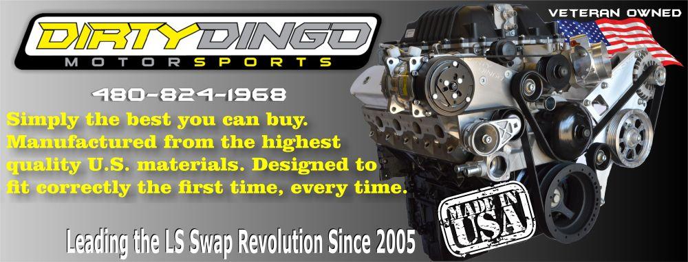 medium resolution of dirty dingo motorsports gm ls gen 3 ls1 gen 4 conversion swap engine mounts and accessory brackets