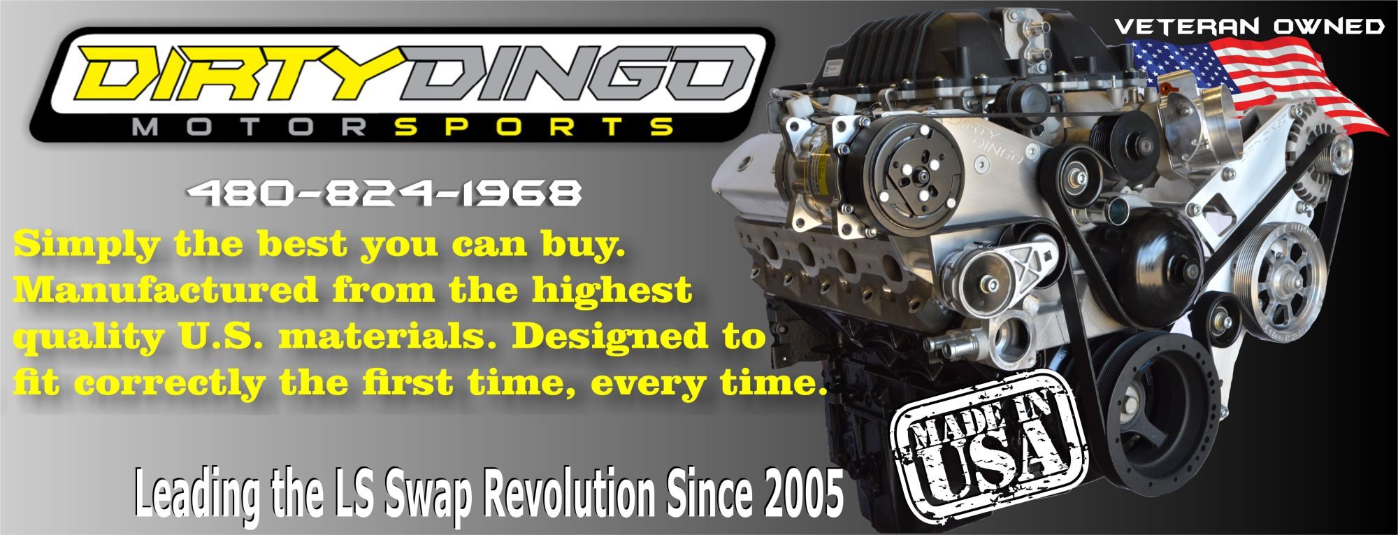 hight resolution of dirty dingo motorsports gm ls gen 3 ls1 gen 4 conversion swap engine mounts and accessory brackets