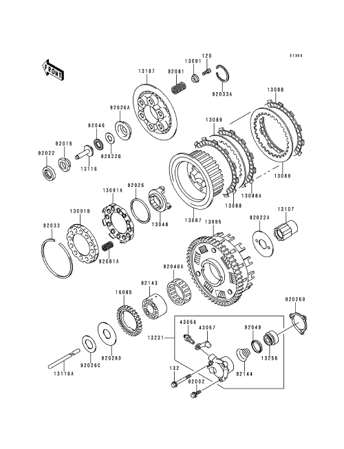 Clutch Parts Diagram