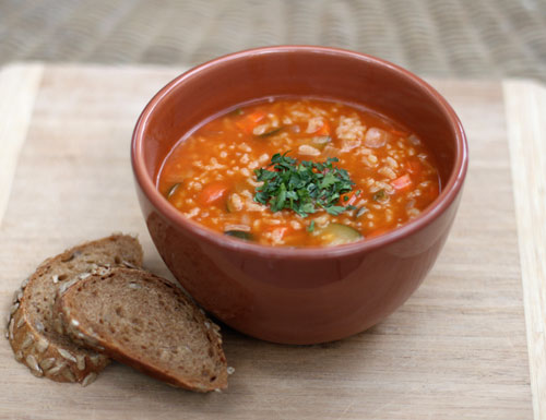 Arborio Rice and White Bean Vegetable Soup  Dirty Gourmet