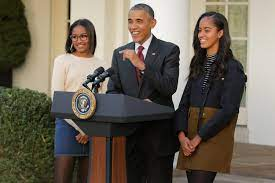 Barack Obama And Daughters