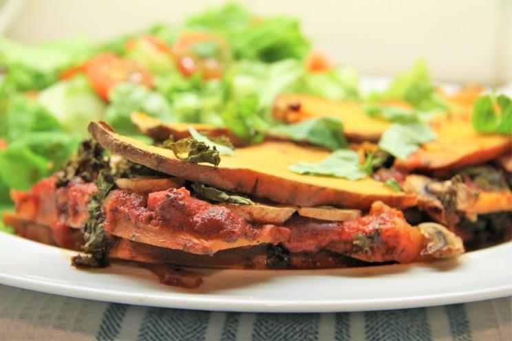 Sweet Potato Kale lasagna