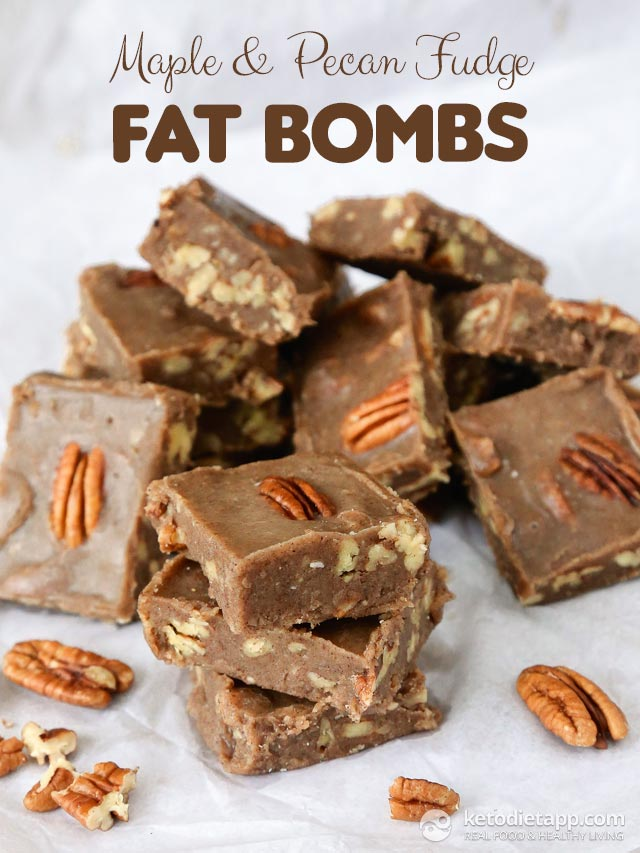 maple pecan fudge fat bombs