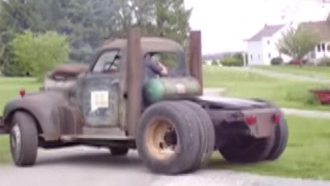 V12 Detroit Diesel Powered Badass Rat Rod Hits The Road