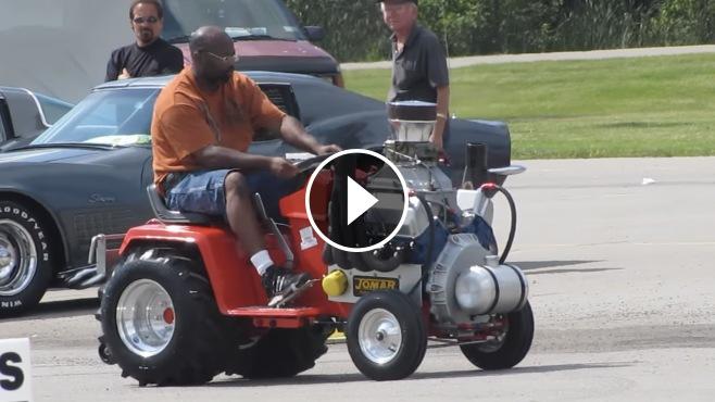 Awesome Machine Ford 351 Cleveland V8 Powered Cub Cadet