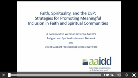 Screenshot of Faith, Spirituality, and the DSP