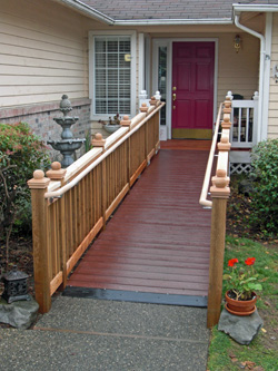 wood ramp to house