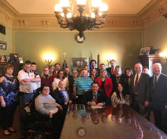 People with Disabilities in Wisconsin witness signing of State's Employment First bill into Law in state capitol
