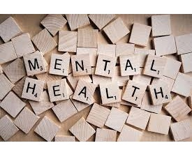 Mental Health spelled out with Scrabble tiles