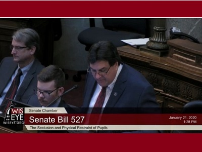 WisEye video of Senators considering Senate Bill 527