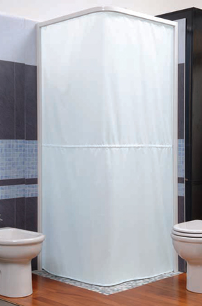 magnetic shower curtain and rail system