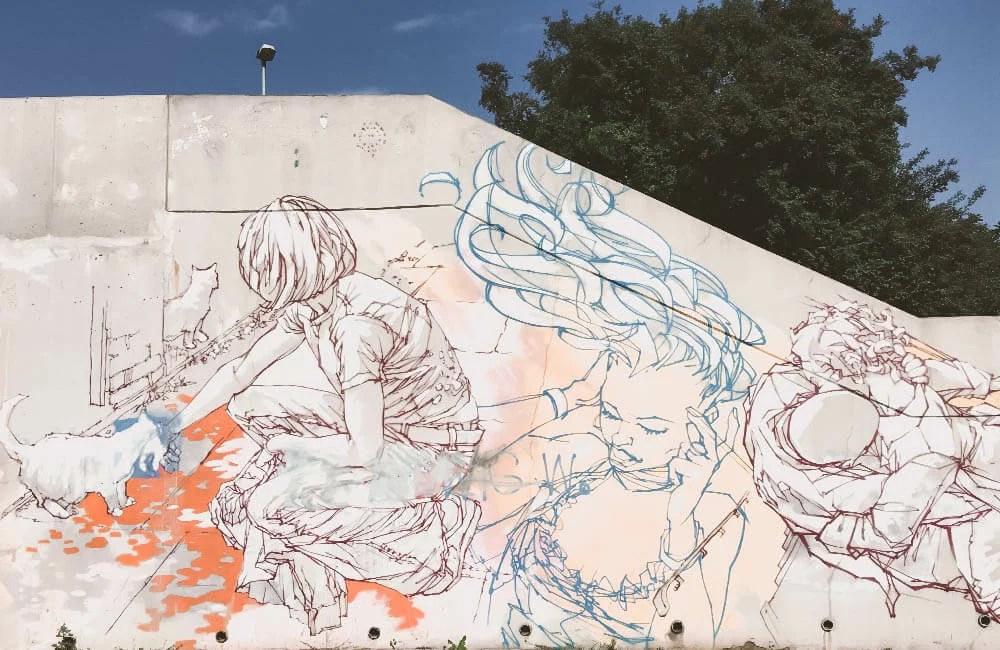 Street art a Praga - Il wall di Mode 2 oggi coperto