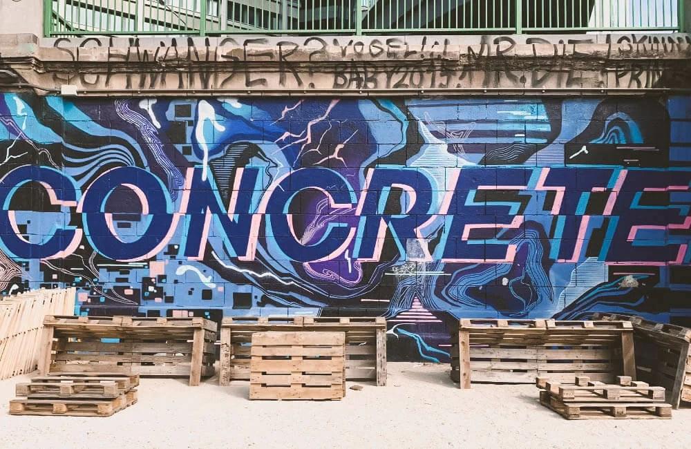 Concrete - Un lettering a Vienna