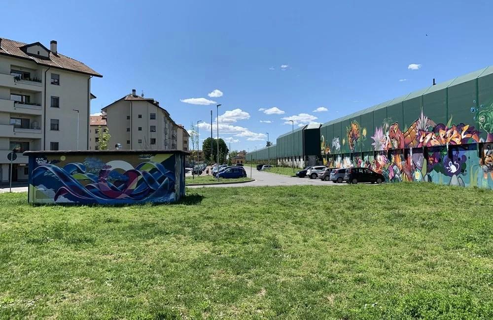 Street Art e Writing in via Calori a Locate di Triulzi