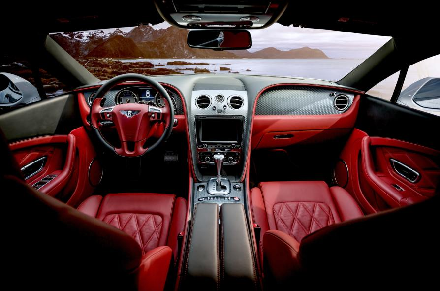 car with red leather seats