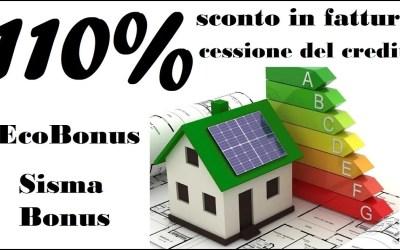 Ecobonus, sconto in fattura e cessione del credito