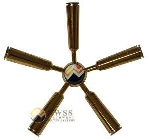 Gold 5 spoke safe handle