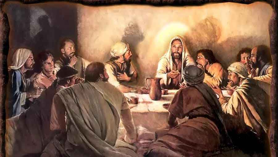 Image result for Jesus blessing the last supper pictures