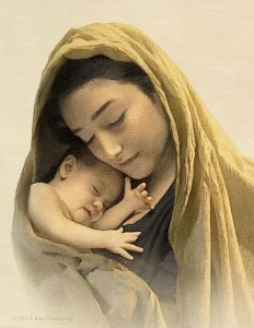 Jesus and Mary by Ray Downing