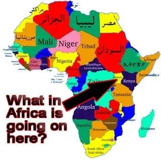 Uganda - Africa Map