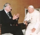 Billy Graham With Pope