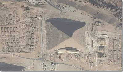 Bird's eye of the Great Pyramid of Giza