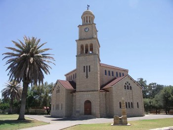 Dutch Reformed Chruch Wolmaransstad-NG Kerk with Obelisk