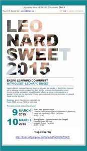Leonard Sweet 2015