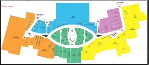 Mall of the North - Upper floor Map - All Seeing Eye