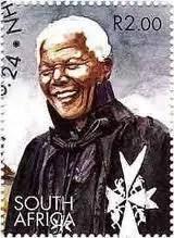 Nelson Mandeal - Order of St John stamp