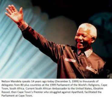 Nelson Mandela Parliament of World's Religions 1999 Cape Town